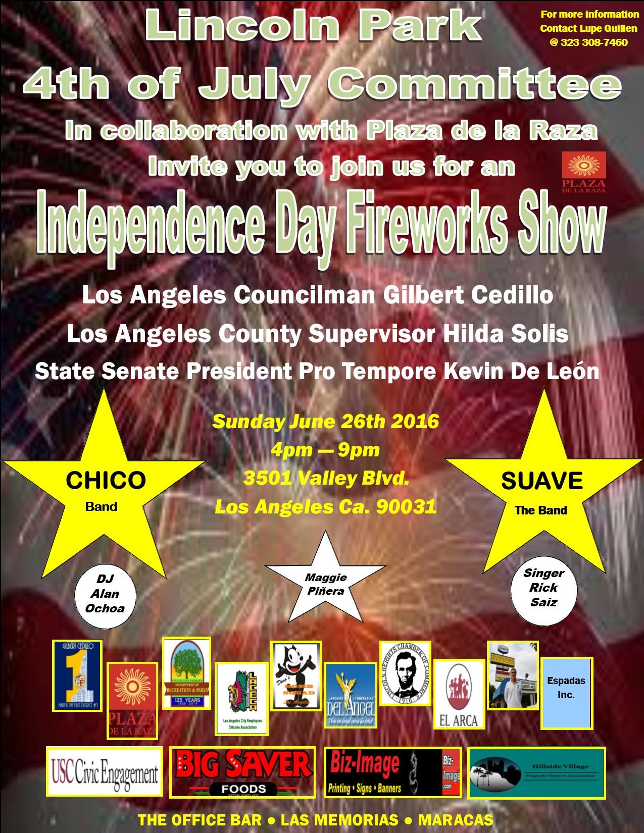 6-26-16 Lincoln Park Fireworks Flyer